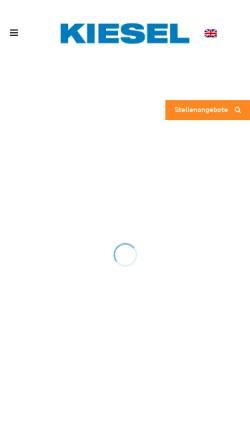 Vorschau der mobilen Webseite www.kiesel-online.de, G.A. Kiesel GmbH