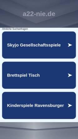 Vorschau der mobilen Webseite www.a22-nie.de, A22 nie