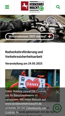 Vorschau der mobilen Webseite www.landesverkehrswacht.de, Landesverkehrswacht Niedersachsen e.V.