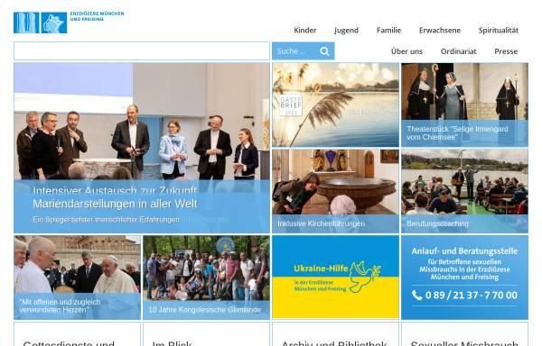 Vorschau von www.erzbistum-muenchen.de, München und Freising - Erzbistum
