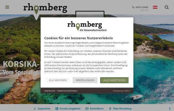Vorschau von www.rhomberg-reisen.com, Rhomberg Reisen