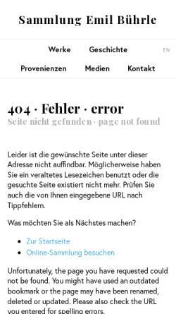 Vorschau der mobilen Webseite www.buehrle.ch, Edgar Degas