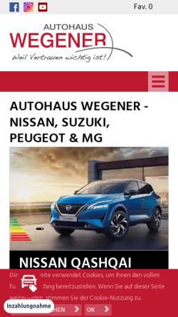 Vorschau der mobilen Webseite www.autohaus-wegener.de, Wegener Autohaus