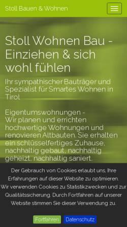 Vorschau der mobilen Webseite stollwohnen.at, Stoll Wohnen Bau GmbH