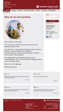 Vorschau der mobilen Webseite www.apotheke-roland-center.de, Apotheke Roland-Center