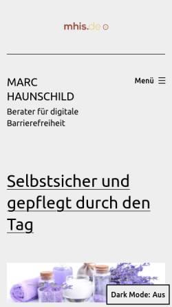 Vorschau der mobilen Webseite mhis.de, mhis.de - web designed for YOU!
