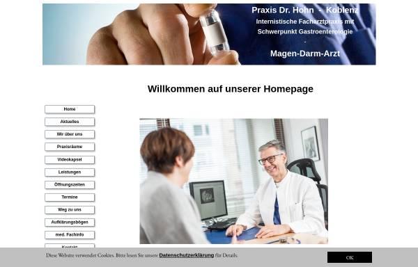Vorschau von www.dr-hohn.de, Internistische Praxis Dr. Hohn
