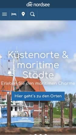 Vorschau der mobilen Webseite www.die-nordsee.de, Die Nordsee