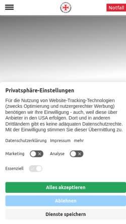 Vorschau der mobilen Webseite www.seenotretter.de, DGzRS - Deutsche Gesellschaft zur Rettung Schiffbrüchiger