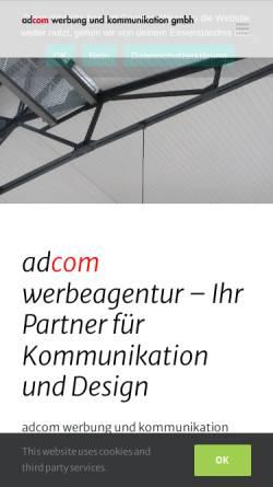 Vorschau der mobilen Webseite www.adcom-werbeagentur.de, Adcom Werbung und Kommunikation GmbH