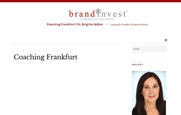 Vorschau von www.brandinvest.com, Brandinvest Corporate Coaching - Dr. Brigitte Wolter