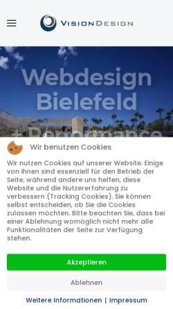 Vorschau der mobilen Webseite www.visiondesign.de, VisionDesign, Inh. Dominic Hanning