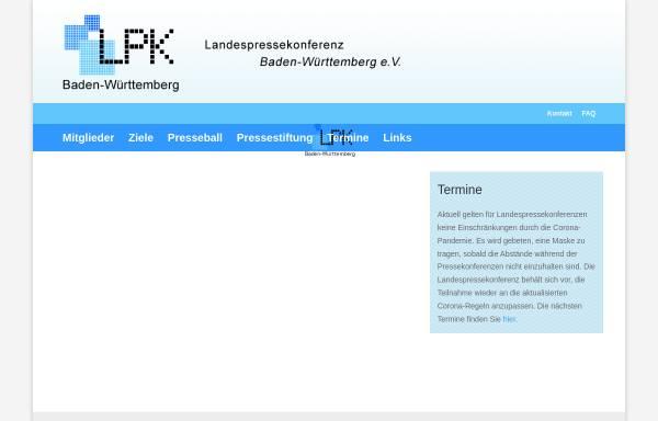 Vorschau von www.lpk-bawue.de, Landespressekonferenz Baden-Württemberg e.V.