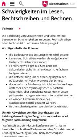 Vorschau der mobilen Webseite www.mk.niedersachsen.de, Behrens, Ulrike