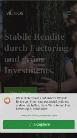 Vorschau der mobilen Webseite victeos.com, Victeos Finance GmbH