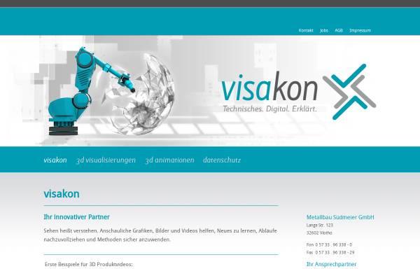 Vorschau von www.visakon.de, Visualisierung im Metallbau