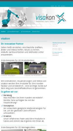 Vorschau der mobilen Webseite www.visakon.de, Visualisierung im Metallbau