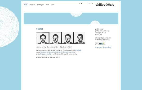 Vorschau von www.philippkoenig.com, philipp könig grafik- und webdesign