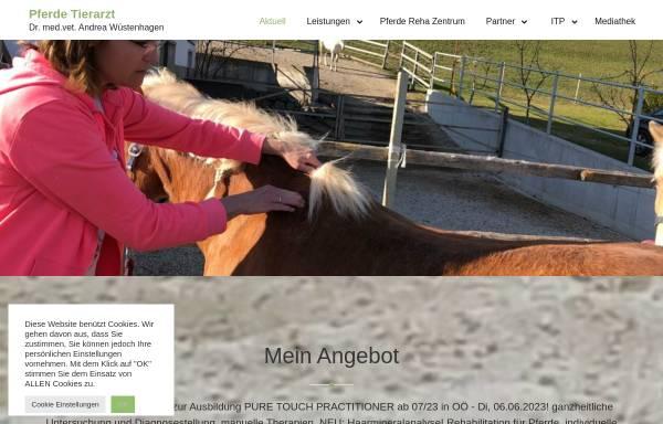 Vorschau von www.pferde-tierarzt.at, Pferdetierarzt Dr. med. vet. Andrea Wüstenhagen