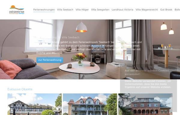 Vorschau von www.ostseebrise-appartements.de, Ostseebrise Appartements und Ferienwohnungen