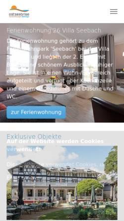 Vorschau der mobilen Webseite www.ostseebrise-appartements.de, Ostseebrise Appartements und Ferienwohnungen