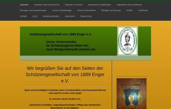 Vorschau von www.sg-enger.eu, Schützengesellschaft von 1889 Enger e.V.