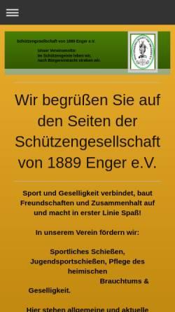 Vorschau der mobilen Webseite www.sg-enger.eu, Schützengesellschaft von 1889 Enger e.V.