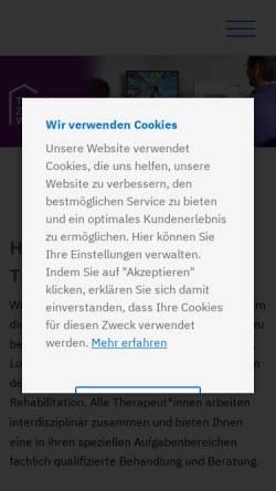 Vorschau der mobilen Webseite www.therapiezentrum-werl.de, Therapiezentrum Werl