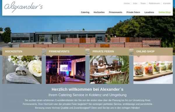Vorschau von www.alexanders.de, Alexander's Catering - Alexander's Gastro GmbH