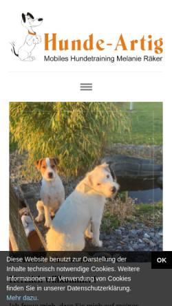 Vorschau der mobilen Webseite www.mobile-hundeschule-horn.de, Mobile Hundeschule Horn, Melanie Räker