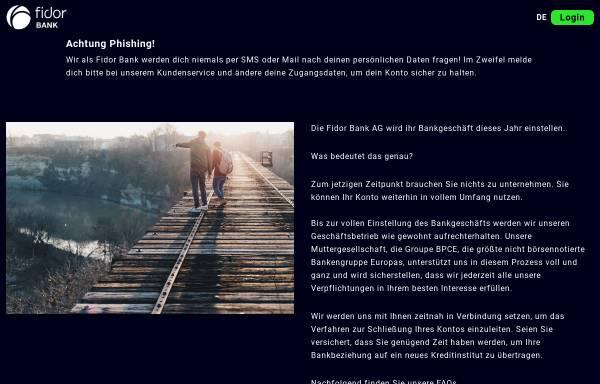Vorschau von fidor.de, Fidor Bank AG