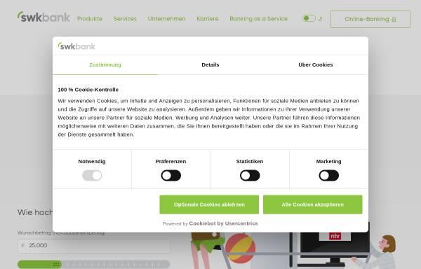Vorschau von www.swkbank.de, Süd-West-Kreditbank Finanzierung GmbH
