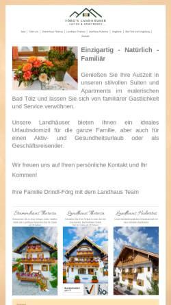 Vorschau der mobilen Webseite www.ferienwohnungen-badtoelz.de, Ferienwohnungen Bad Tölz