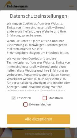 Vorschau der mobilen Webseite www.die-schmerzpraxis.de, Die Schmerzpraxis