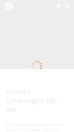Vorschau der mobilen Webseite www.da-steuerberatung.de, Albrecht & Partner Steuerberatungsgesellschaft