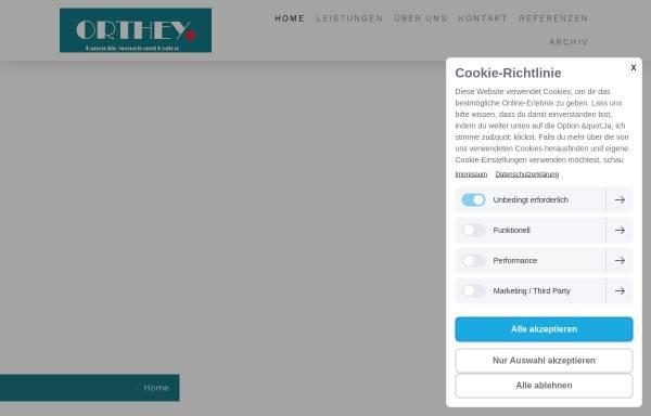 Vorschau von www.t-orthey.de, Thomas Orthey Pflasterarbeiten / Tiefbau