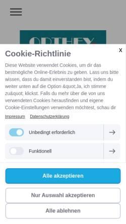 Vorschau der mobilen Webseite www.t-orthey.de, Thomas Orthey Pflasterarbeiten / Tiefbau