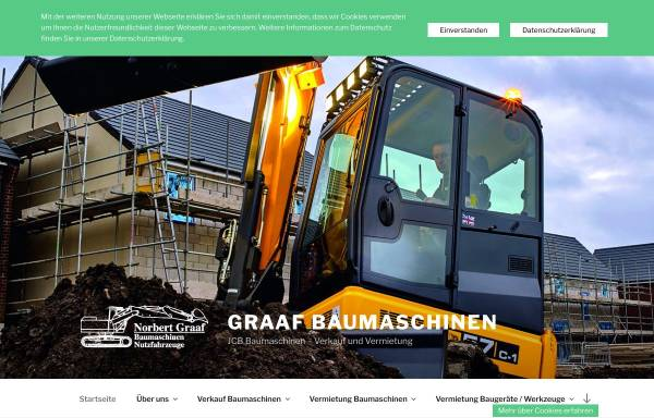 Vorschau von www.graaf-baumaschinen.de, Norbert Graaf Baumaschinen und Nutzfahrzeuge GmbH