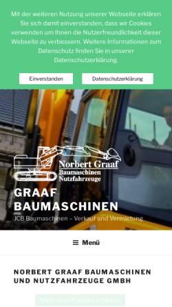 Vorschau der mobilen Webseite www.graaf-baumaschinen.de, Norbert Graaf Baumaschinen und Nutzfahrzeuge GmbH