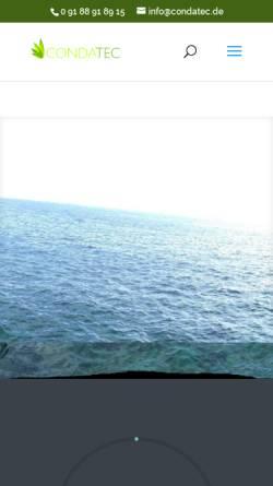 Vorschau der mobilen Webseite www.condatec.de, Condatec Blog