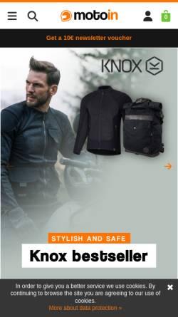 Vorschau der mobilen Webseite www.motoin.de, Motoin GmbH