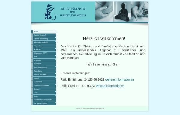 Vorschau von www.shiatsu-koeln.de, Institut für Shiatsu und Fernöstliche Medizin