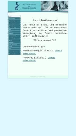 Vorschau der mobilen Webseite www.shiatsu-koeln.de, Institut für Shiatsu und Fernöstliche Medizin