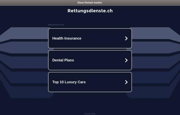 Vorschau von www.rettungsdienste.ch, Rettungsdienste.ch