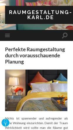 Vorschau der mobilen Webseite www.raumgestaltung-karl.de, Karl Raumgestaltung, Mühlheim