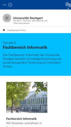 Vorschau der mobilen Webseite www.informatik.uni-stuttgart.de, Informatik Forum Stuttgart
