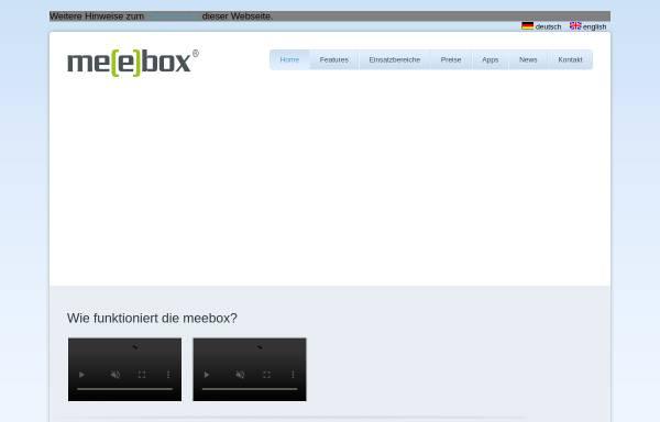 Vorschau von www.meebox.de, meebox GmbH