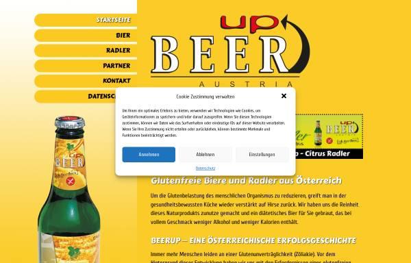 Vorschau von www.glutenfrei.at, BeerUp - Malt´n´more trading GmbH.