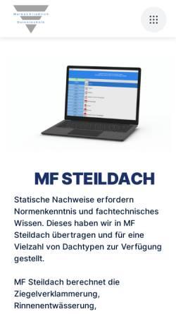 Vorschau der mobilen Webseite www.mf-steildach.de, Markus Friedrich
