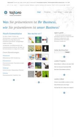 Vorschau der mobilen Webseite www.tajloro.com, Tajloro GmbH